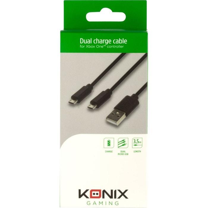 ACC. KONIX Câble Double micro USB Pour M