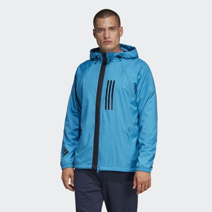 650604efb2 Veste fleece-lined id wnd bleu Adidas Performance | La Redoute
