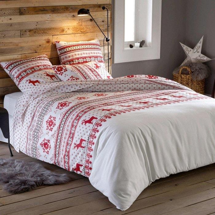 drap pur coton imprim ov lis la redoute interieurs la. Black Bedroom Furniture Sets. Home Design Ideas