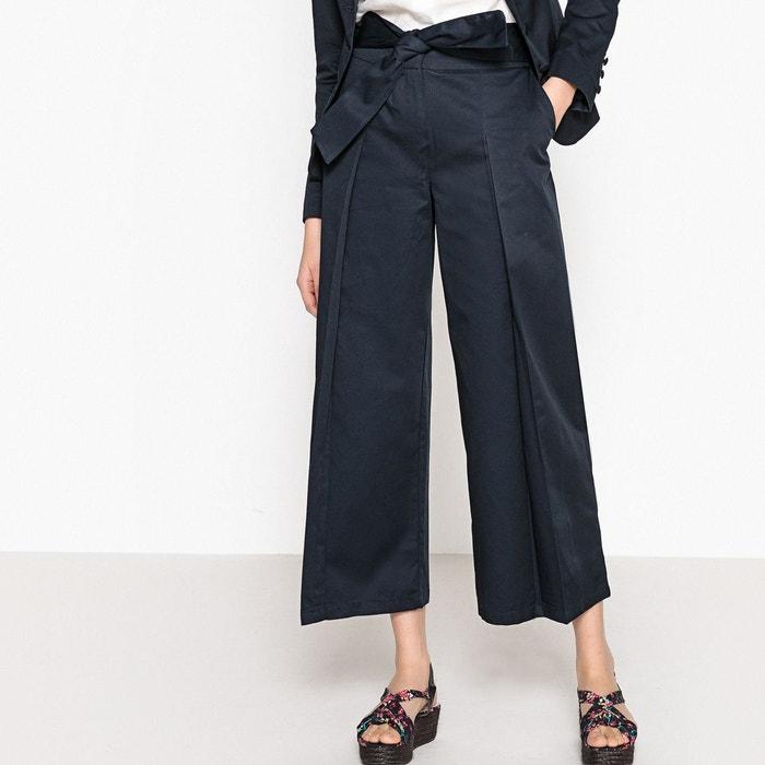 Pantalon large raccourci ceinture à nouer  LA REDOUTE COLLECTIONS image 0