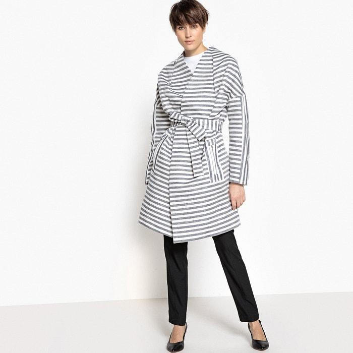 Giacca lunga stile kimono loose cintura  La Redoute Collections image 0