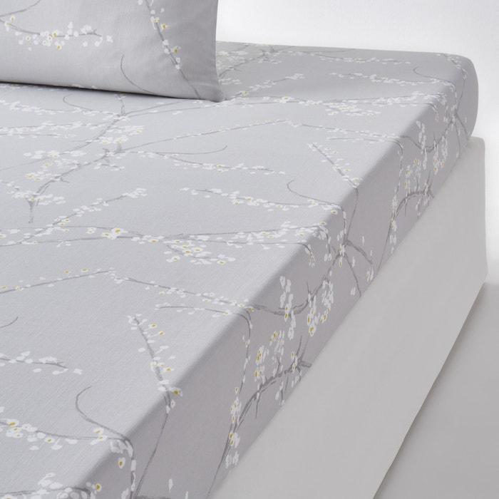drap housse imprim satin de coton natsumi la redoute interieurs la redoute. Black Bedroom Furniture Sets. Home Design Ideas