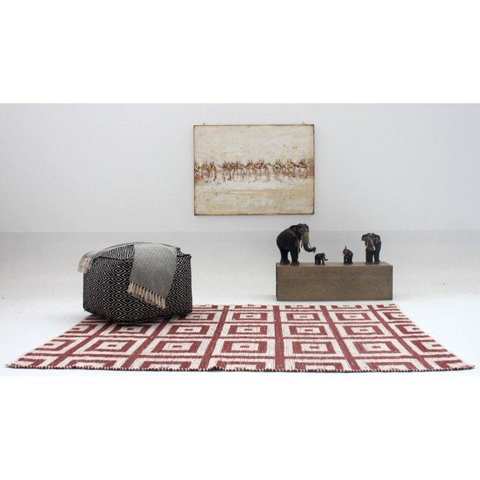 tapis d 39 int rieur rouille et blanc tiss main tiles terre. Black Bedroom Furniture Sets. Home Design Ideas