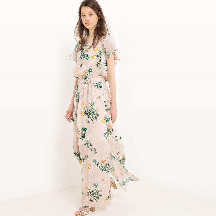 robe longue imprim e fleurs imprim mademoiselle r la redoute. Black Bedroom Furniture Sets. Home Design Ideas