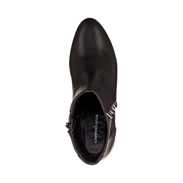 Boots cuir noir Castaluna