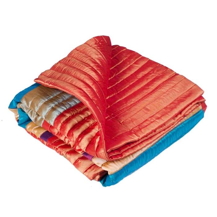 Couvre lit matelass polyester malaga multicolore multicolore madura la redoute - Couvre lit matelasse la redoute ...