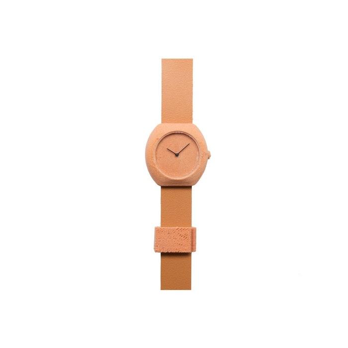 Montre en impression 3d plastique recyclable et poudre de cèdre, bracelet cuir cèdre .Step | La Redoute