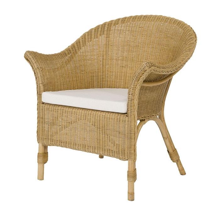 fauteuil en fitrit tress cadaques rotin design miel paille rotin design la redoute. Black Bedroom Furniture Sets. Home Design Ideas
