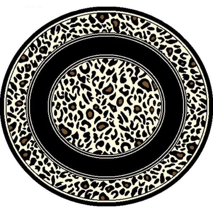 tapis safari rond zebre noir natacha b la redoute. Black Bedroom Furniture Sets. Home Design Ideas