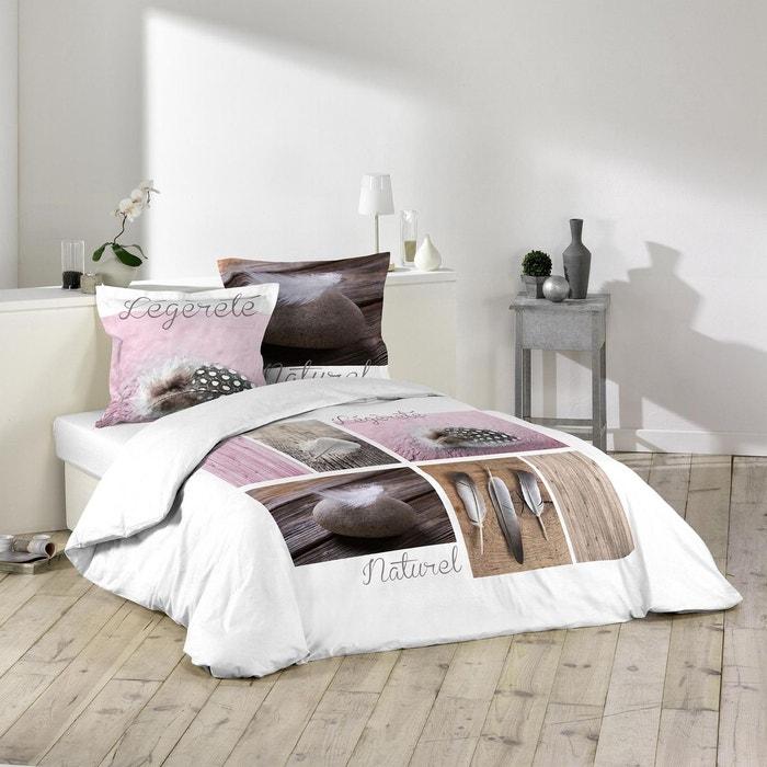 parure de couette 100 coton plume legere rose gris rose douceur d interieur la redoute. Black Bedroom Furniture Sets. Home Design Ideas