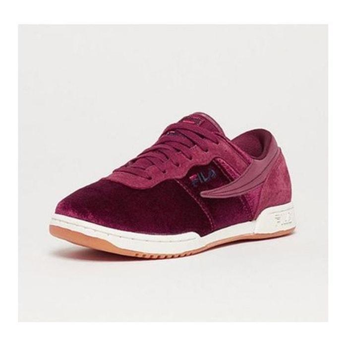 Chaussures original fitness velours velvet  bordeaux Fila  La Redoute
