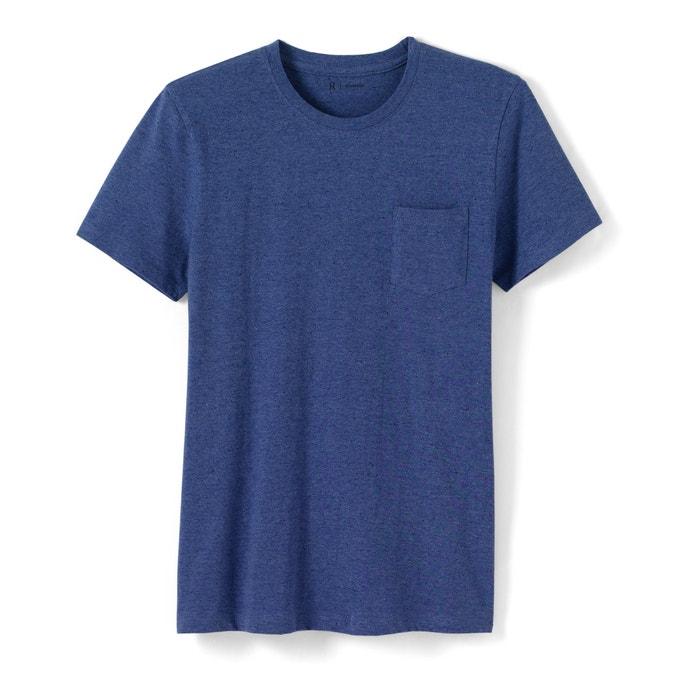 Imagen de Camiseta moteada, cuello redondo, 100% algodón R essentiel