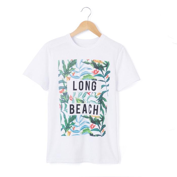Image T-shirt 10-16 ans imprimé tropical La Redoute Collections