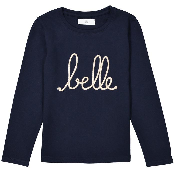 "T-shirt a maniche lunghe ricamate ""belle"" da 3 a 12 anni  La Redoute Collections image 0"
