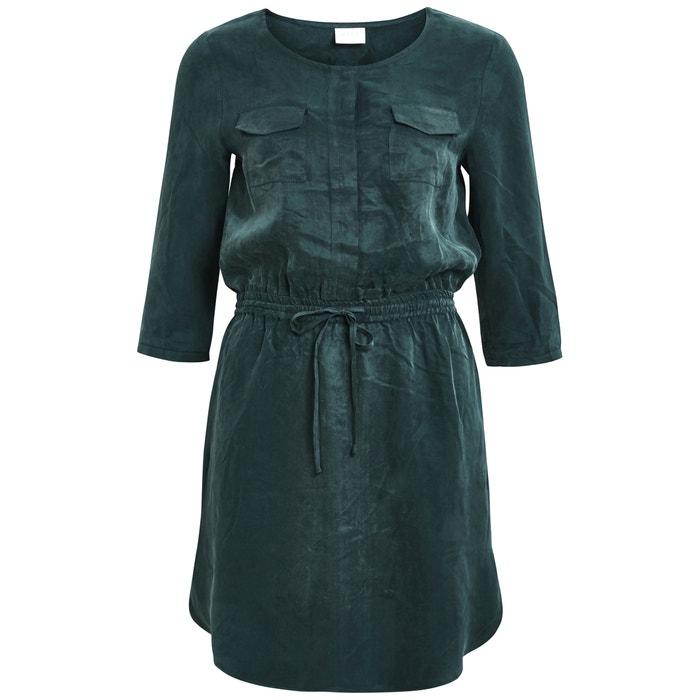 Shirt Style Dress with Elasticated Waist  VILA image 0