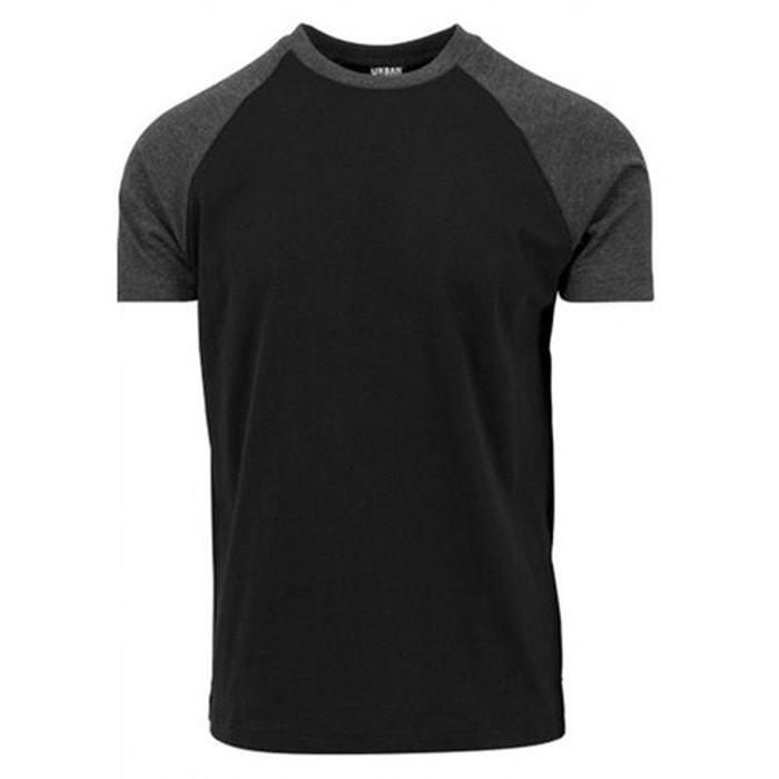 df1f9e7506b46 T-shirt manches raglan bicolore noir Urban Classics   La Redoute