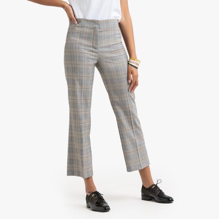 pantalon slim raccourci motif prince de galles prince de. Black Bedroom Furniture Sets. Home Design Ideas