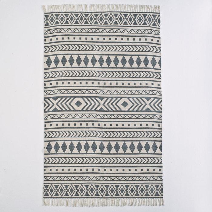 tapis imprim coton dyrole ecru noir la redoute. Black Bedroom Furniture Sets. Home Design Ideas