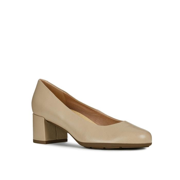 08b21a56 Zapatos de tacón de piel annya marrón claro Geox | La Redoute