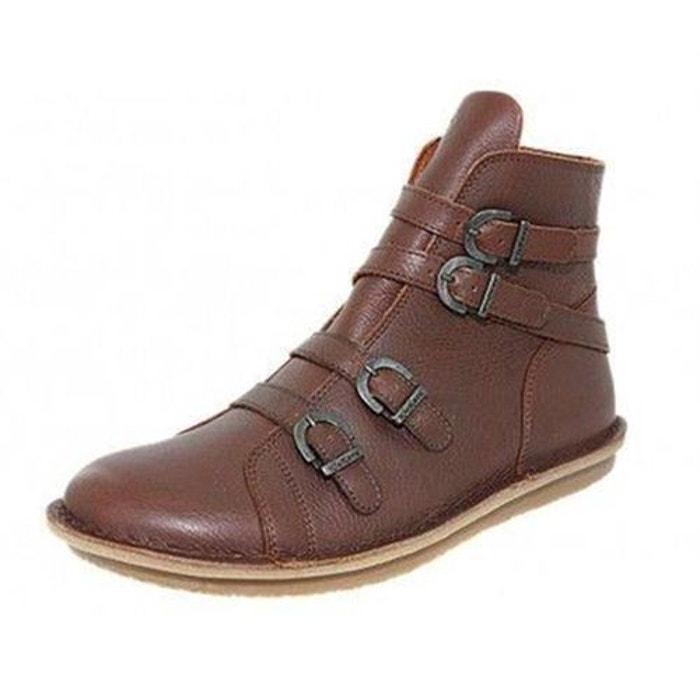 Bottines  /   boots cuir  camel Kickers  La Redoute