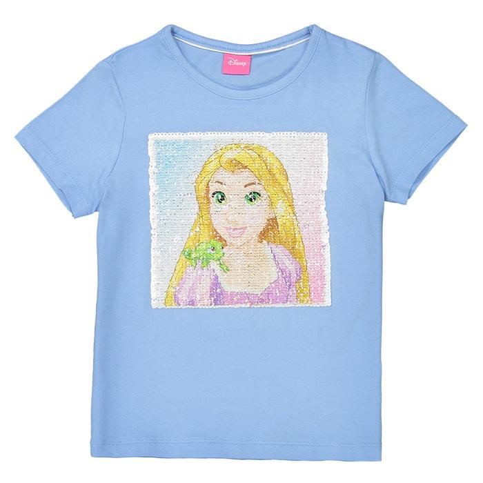 reversible sequin t shirt 5 10 years blue disney princess la redoute. Black Bedroom Furniture Sets. Home Design Ideas