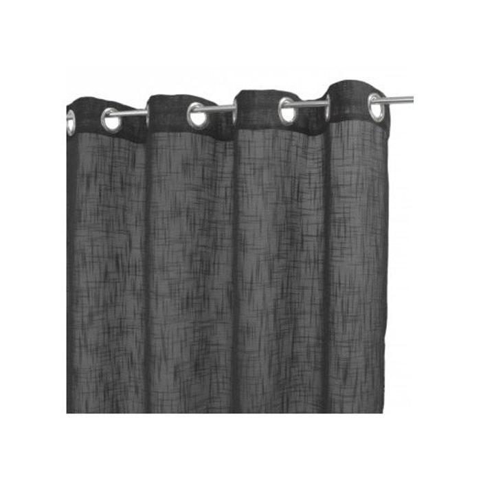 voilage uni en etamine de lin home maison la redoute. Black Bedroom Furniture Sets. Home Design Ideas