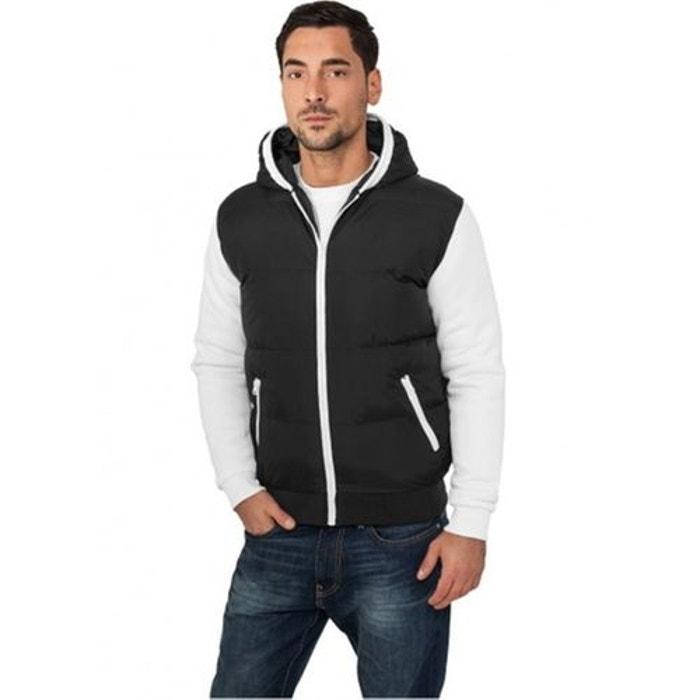 Veste zippée capuche teddy noir Urban Classics   La Redoute 107b8ccfb4f4