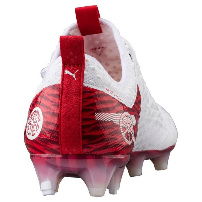 Chaussure de foot evopower vigor 1 giroud df fg pour homme puma white-high risk red-barbados cherry Puma