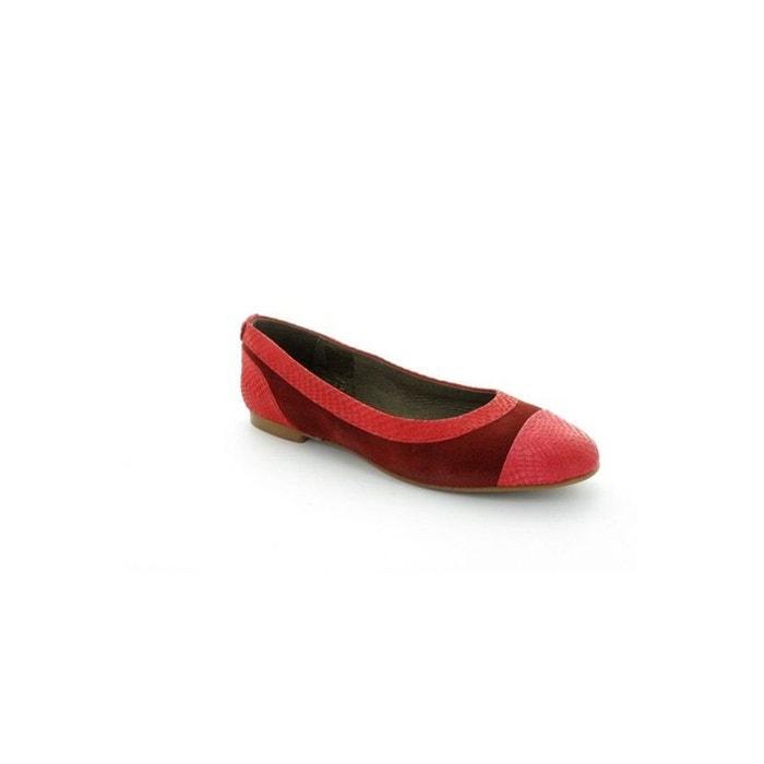 Ikks Ballerines  Elisa Rouge Rouge - Chaussures Ballerines Femme