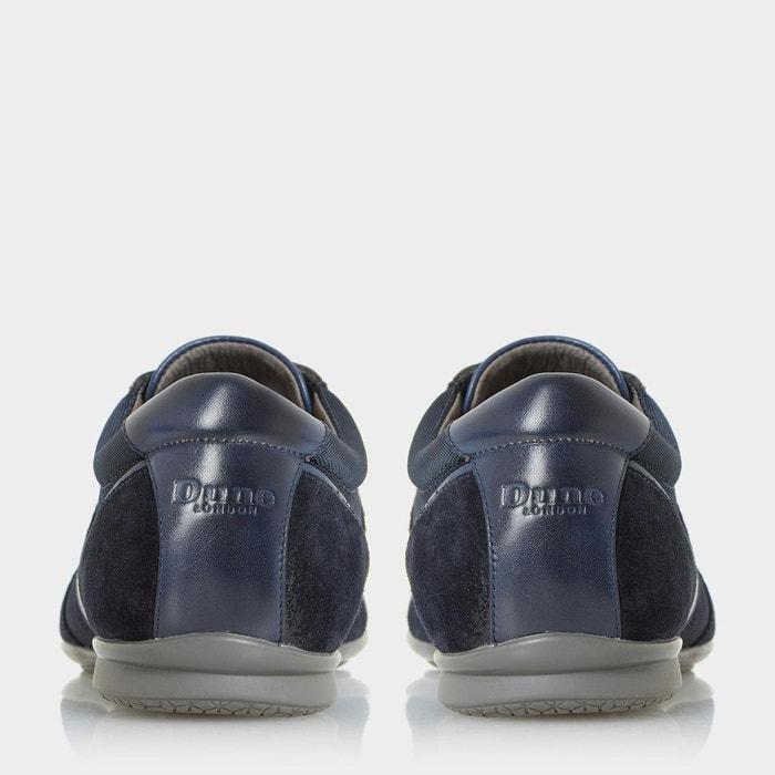 Baskets multi-matières - tate bleu marine cuir Dune London