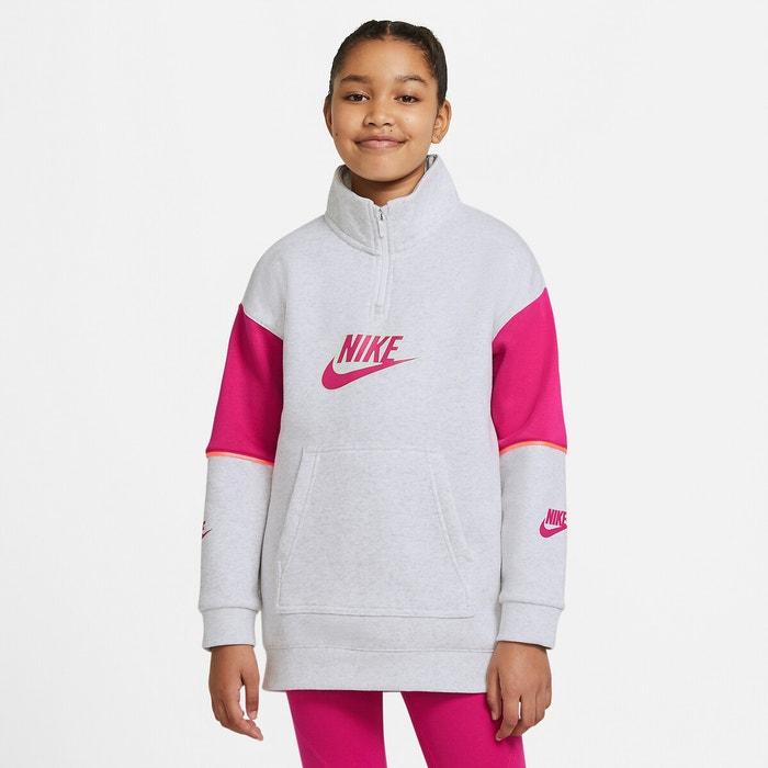 eficacia naranja paralelo  Sudadera de cuello alto con cremallera 6-16 años gris + rosa Nike | La  Redoute