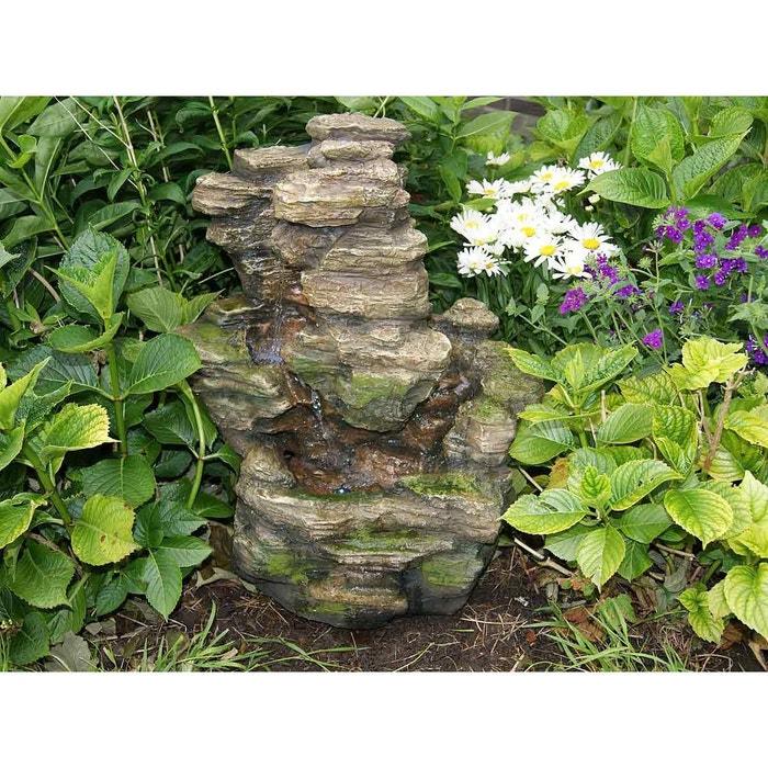 Fontaine de jardin chios chute d 39 eau effet pierre couleur for Voir deco jardin