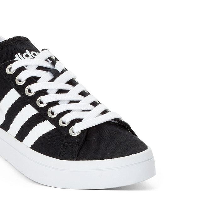 adidas originals white and black court vantage trainers