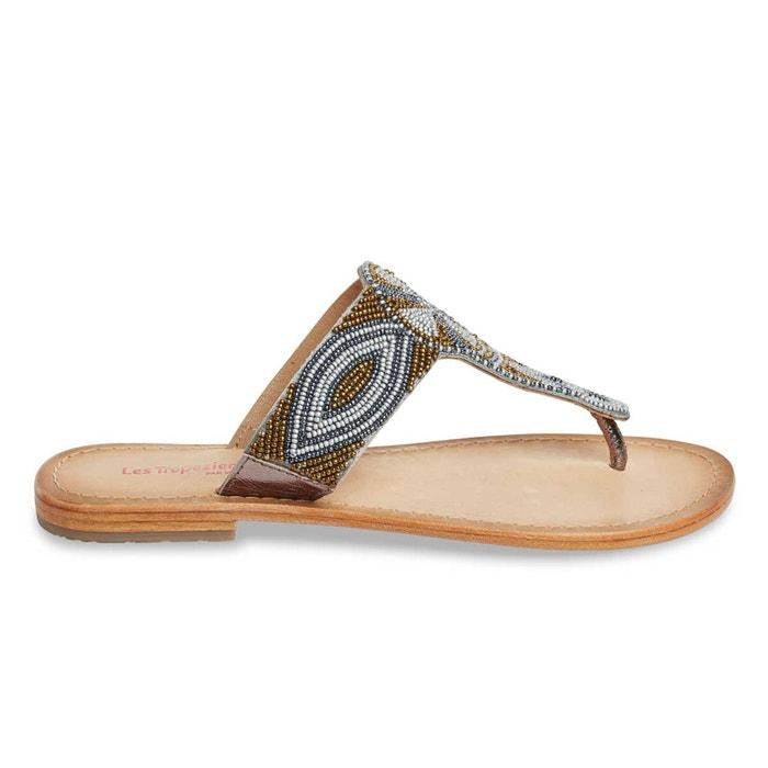 sandales cuir plates melody les tropeziennes par m belarbi bronze la redoute. Black Bedroom Furniture Sets. Home Design Ideas