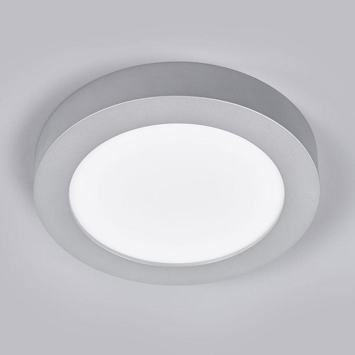 Plafonnier led marlo pour salle de bain ip44 argent blanc