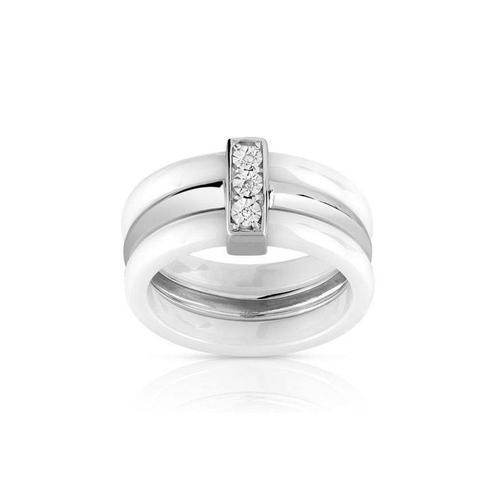 bague diamant et ceramique