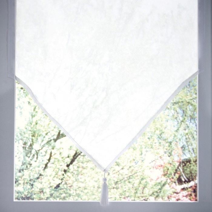 Vitrage pointe pompon passe tringle jubba la redoute interieurs la redoute - Ourlet rideaux quelle hauteur ...