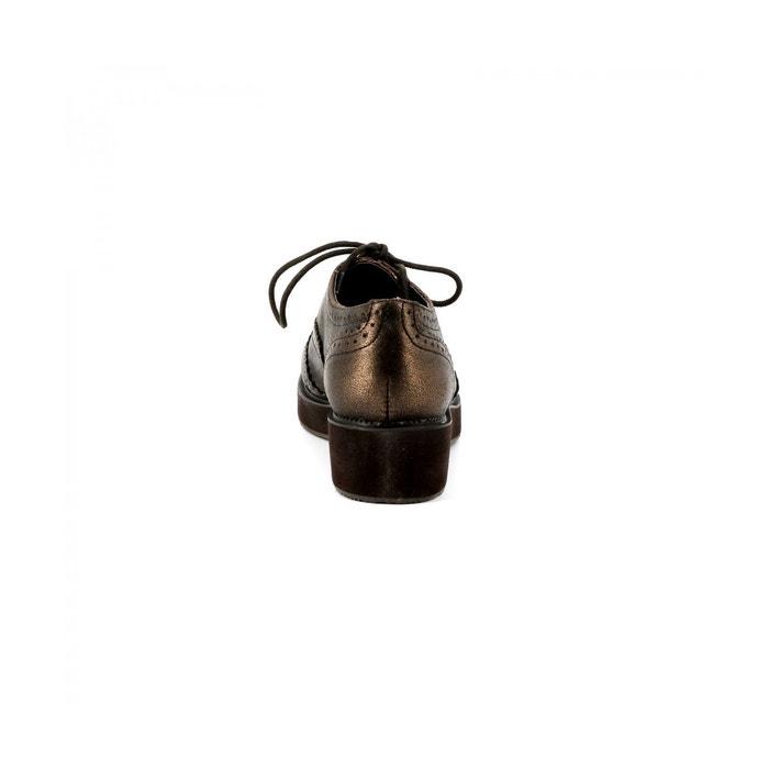 Derbies compensée baleo bronze Cassis Cote Dazur