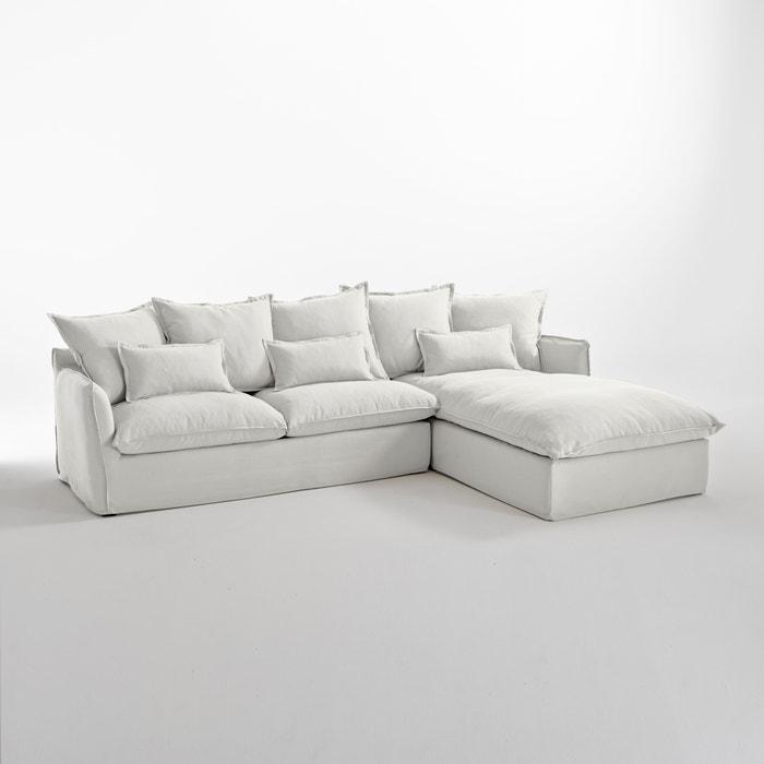 Image Canapé d'angle fixe en coton/lin, Odna Bultex La Redoute Interieurs