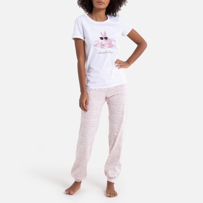 Printed Cotton Jersey Pyjamas