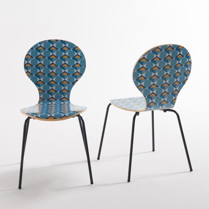 afbeelding Bedrukte stoel (set van 2), Barting La Redoute Interieurs