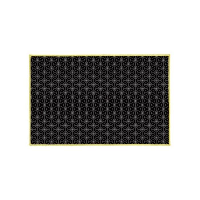 tapis de bain en coton 39 spirit noir home bain la redoute. Black Bedroom Furniture Sets. Home Design Ideas