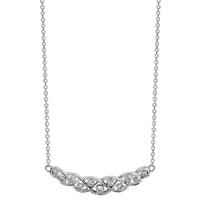 Collier longueur réglable: 42 à 45 cm volute oxyde de zirconium blanc argent 925 couleur unique So Chic Bijoux | La Redoute Approvisionnement En Vente ezBqCu
