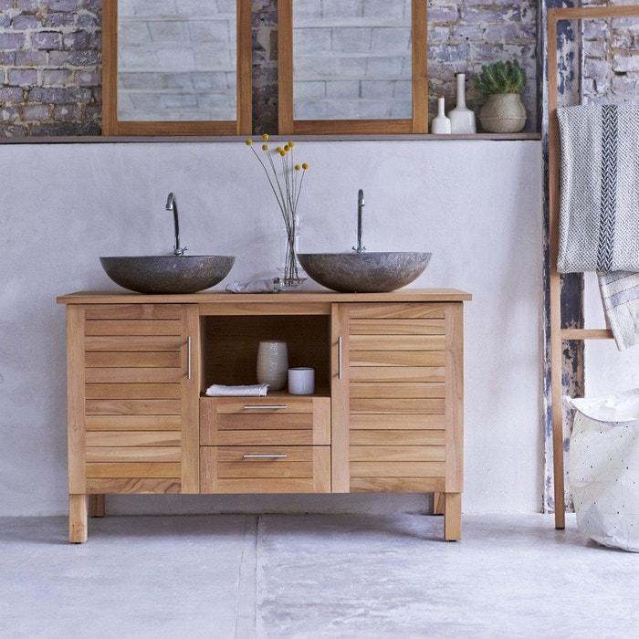 Meuble salle de bain en bois de teck 125 soho teck Tikamoon | La Redoute