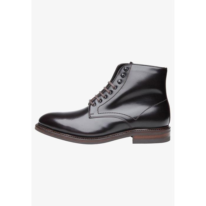 Boots à lacets pour homme en gris dunkelbraun Shoepassion