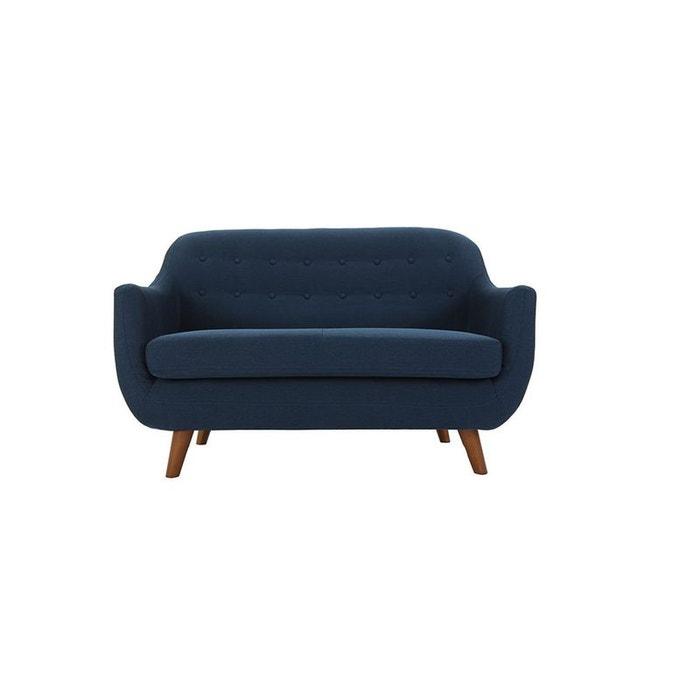 Canap design ynok canape 2 places bleu marine miliboo for Cherche canape confortable