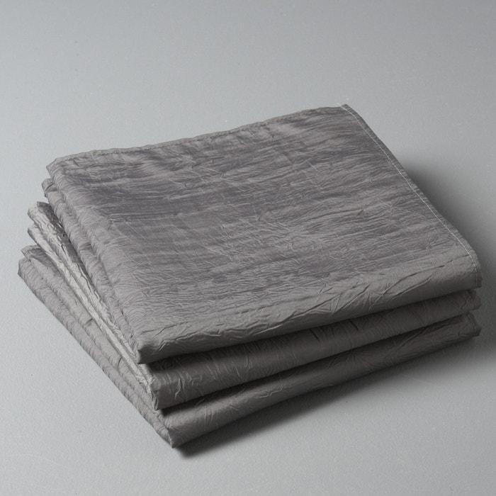 Image FROISSÉE Pack of 3 Crinkle Napkins La Redoute Interieurs
