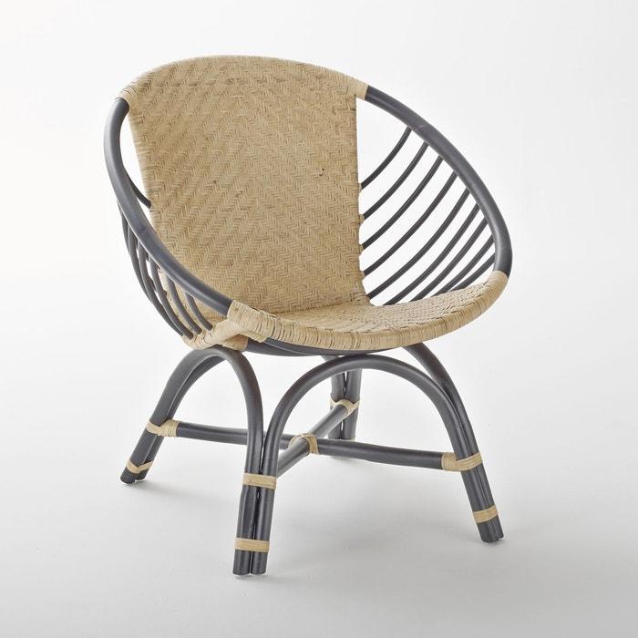 fauteuil rotin nihov naturel noir la redoute interieurs la redoute. Black Bedroom Furniture Sets. Home Design Ideas