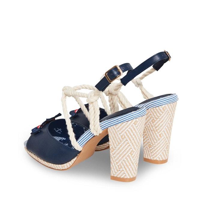 Sandales nautiques à bride arrière et brides en corde joe browns femme bleu Joe Browns