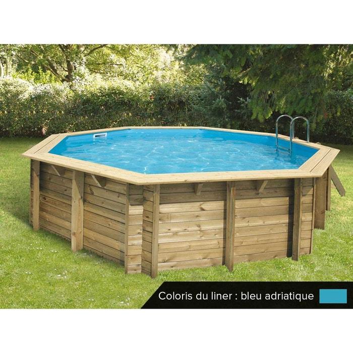 piscine bois oc a 5 10 x 1 20 m liner bleu ubbink la redoute. Black Bedroom Furniture Sets. Home Design Ideas